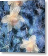 Nighttime Narcissus Metal Print