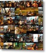 Nighttime Scooters, Hanoi Metal Print