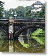 Nijubashi Bridge At Imperial Palace Metal Print