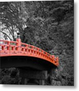 Nikko Red Bridge Metal Print