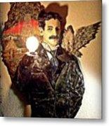 Nikola Tesla At Wardenclyffe Metal Print