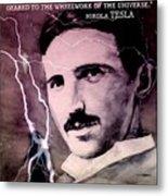 Nikola Tesla - Quote Metal Print