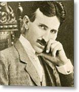 Nikola Tesla, Serbian-american Inventor Metal Print