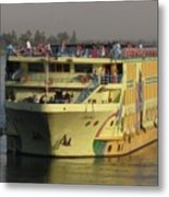 Nile Cruise Ship Metal Print