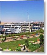 Nile Cruise Ships Aswan Metal Print