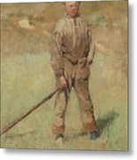 Nils Kreuger, 1858-1930, Young Boy, Scene From Holland. Executed In July-august 1883 Metal Print