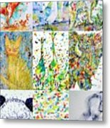 Nine Animals - Version 1 Metal Print