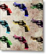 Nine Revolvers Metal Print