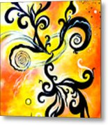 Nirvana Zen Yellow Way To Eternity Metal Print