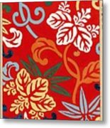 Nishike Brocade With Paulownia Arabesque Metal Print