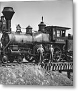 No. 120 Early Railroad Locomotive Metal Print