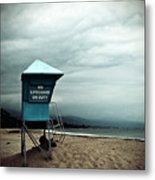 Santa Barbara Life Guard Metal Print