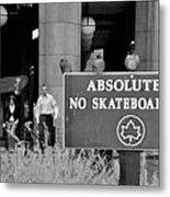 No Skateboarding Metal Print
