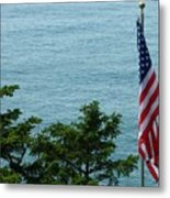 No Wind For Flag Metal Print