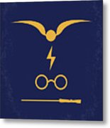No101-1 My Hp - Sorcerers Stone Minimal Movie Poster Metal Print