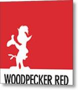 No12 My Minimal Color Code Poster Woody Woodpecker Metal Print