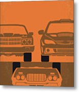 No207-4 My Fast And Furious Minimal Movie Poster Metal Print