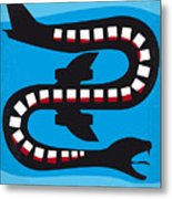 No501 My Snakes On A Plane Minimal Movie Poster Metal Print