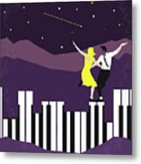 No756 My La La Land Minimal Movie Poster Metal Print