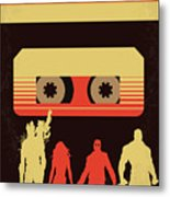 No812 My Guardians Of The Galaxy Minimal Movie Poster Metal Print