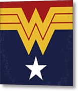 No825 My Wonder Woman Minimal Movie Poster Metal Print