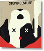 No893 My A Futile And Stupid Gesture Minimal Movie Poster Metal Print
