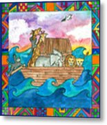 Noah's Ark Metal Print by Pamela  Corwin