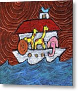 Noahs Ark With Blue Bird Metal Print