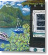 Noble Cottage At The Lake Metal Print