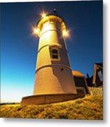 Nobska Light Falmouth Ma Cape Cod Window Shadow Metal Print