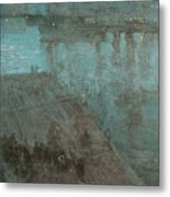 Nocturne In Blue And Gold Valparaiso Metal Print