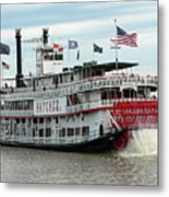 Nola Natchez Riverboat Metal Print