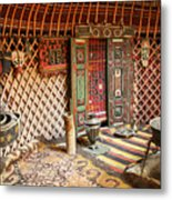Nomad Yurt Metal Print