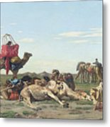 Nomads In The Desert Metal Print