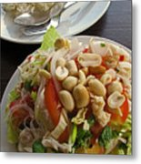 Noodles With Crab Meat And Peanuts Metal Print