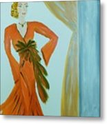 Nora-an Art Deco Lady Metal Print