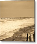 Nor'easter At Nags Head Metal Print