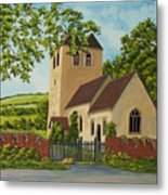 Norman Church In Fingest Metal Print