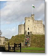 Norman Keep At Cardiff Castle Metal Print
