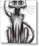 Norman The Cat Metal Print