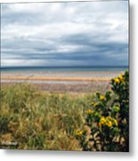 Normandy Beach Metal Print