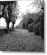Normandy Black And White Metal Print