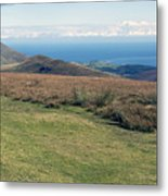 North Barrule And Maughold Head Metal Print