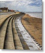 North Beach Heacham Norfolk Metal Print