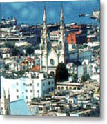 North Beach San Francisco - Watercolor Metal Print