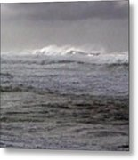 North Beach Winter Outside Break Metal Print