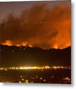North Boulder Colorado Fire Above In The Hills Metal Print