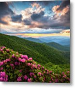 North Carolina Blue Ridge Parkway Scenic Landscape Asheville Nc Metal Print