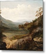 North Carolina Mountain Landscape Metal Print