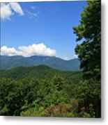 North Carolina Mountains In The Summer Metal Print